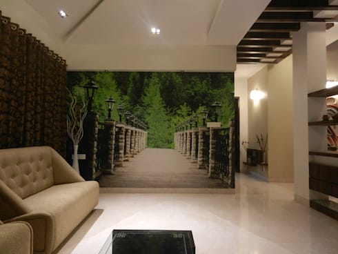 Residential project: modern Living room by ANCIENT INTERIO