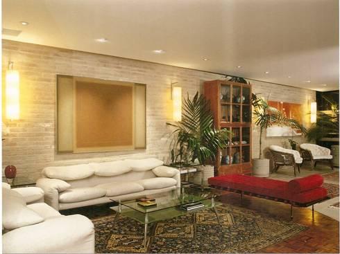 Apto Barão de Capanema: Salas de estar modernas por Elisabete Primati Arquitetura