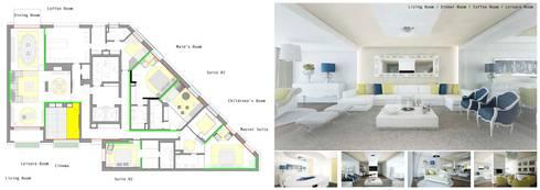 Arquitectura de interiores apartamento, Praça de Espanha, Portugal: Salas de estar clássicas por Sara Santos Arquitecta