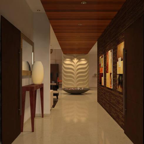 Divyashree:  Corridor & hallway by Sanctuary