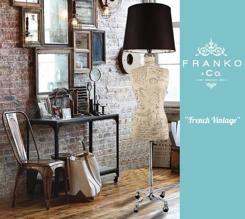 Lámpara Maniquí Marselle: Estudios y oficinas de estilo industrial por Franko & Co.