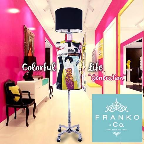 Lámpara maniquí Generation: Pasillos y recibidores de estilo  por Franko & Co.
