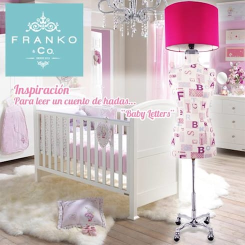 Lámpara Maniquí Baby Pink: Recámaras infantiles de estilo moderno por Franko & Co.