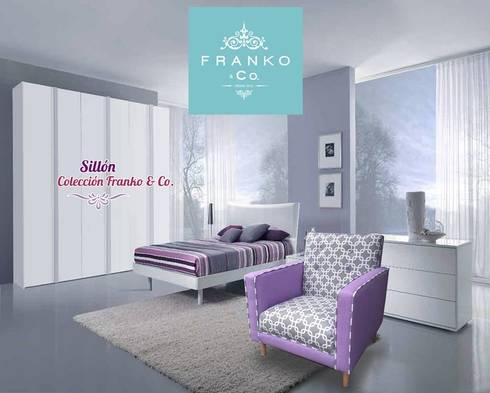 Siilón Violet chains: Recámaras de estilo minimalista por Franko & Co.