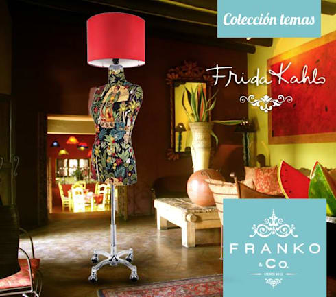 Lámpara Frida Kahlo : Salas de estilo colonial por Franko & Co.