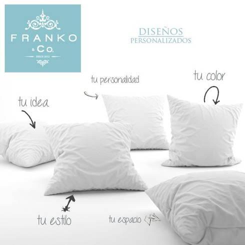 Haz tus propios cojines: Hogar de estilo  por Franko & Co.