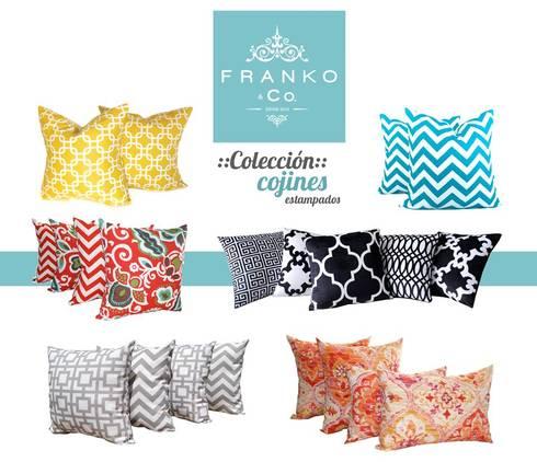 Cojines: Hogar de estilo  por Franko & Co.