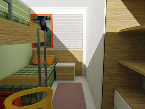 Dormitório Meninos FO: Quarto infantil  por Nádia Catarino - Arquitetura e Design de Interiores
