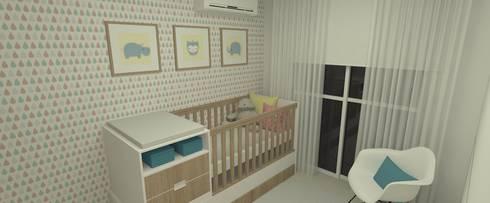 Quarto de Bebe 2:   por Carolina Mendonça Projetos de Arquitetura e Interiores LTDA