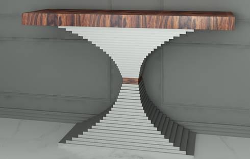 Mobiliário para o Hall de entrada Furniture for the lobby: Corredor, hall e escadas  por Intense mobiliário e interiores;