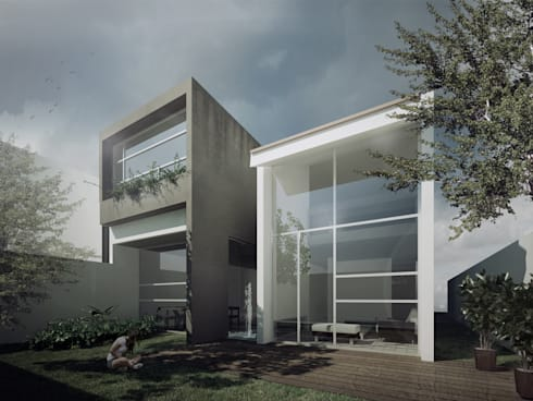 AIZ MANANTIAL: Casas de estilo minimalista por TAQ arquitectura