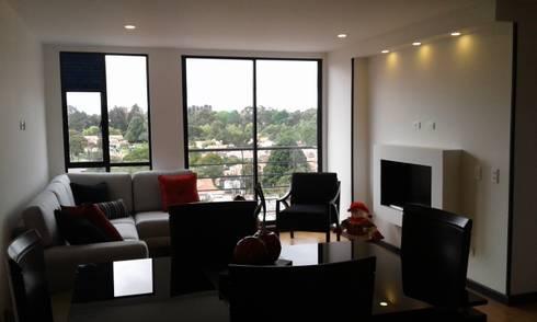 APTO. CEDRITOS – BOGOTA – 2015: Salas de estilo moderno por MS - CONSTRUCCIONES MARIO SOTO & Cìa S.A.S.