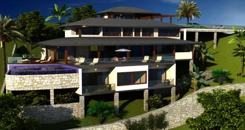 RESIDÊNCIA RM: Casas rústicas por MADUEÑO ARQUITETURA & ENGENHARIA
