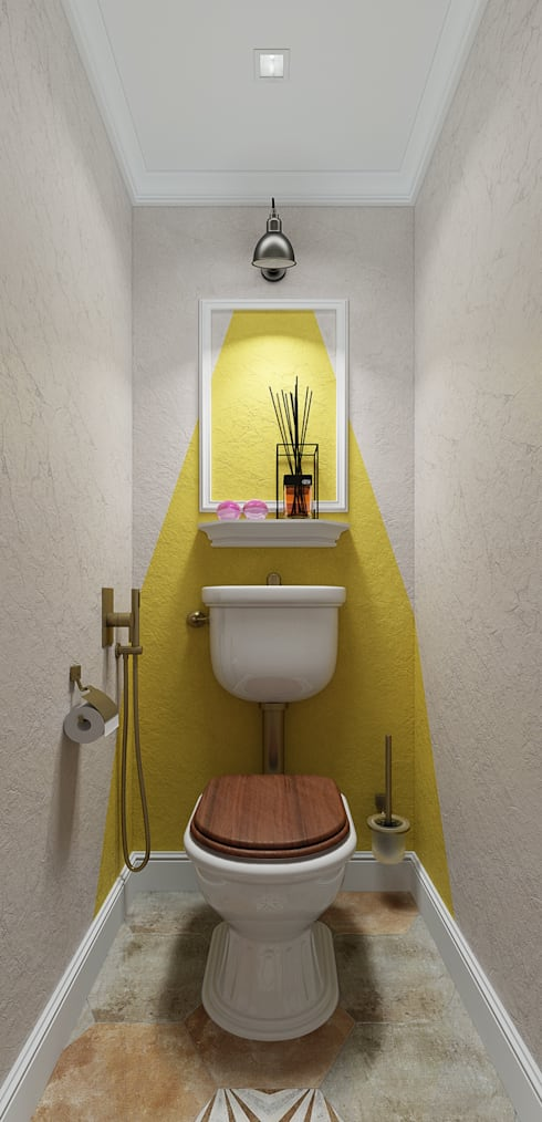 Двухкомнатная квартира в Москве: Ванные комнаты в . Автор – EEDS design