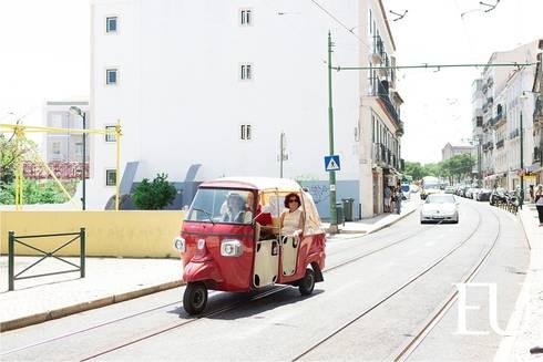 Projecto Apartamento Turístico T2 na Graça em Lisboa: Casas modernas por EU INTERIORES