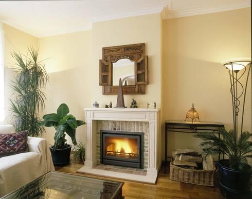 In Fire 683 Classic: Salas de estar modernas por Biojaq - Comércio e Distribuição de Recuperadores de Calor Lda