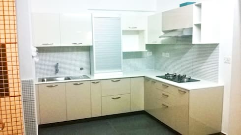 Kitchen work for Celebrity—Mrs. Jeny Susan Mattew: modern Kitchen by Bespoke Decor