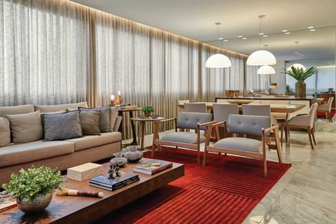 Apartamento .CB: Salas de estar modernas por Amis Arquitetura & Design