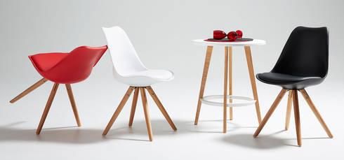 Cadeiras Chairs www.intense-mobiliario.com  Ralf http://intense-mobiliario.com/product.php?id_product=2031: Sala de jantar  por Intense mobiliário e interiores;