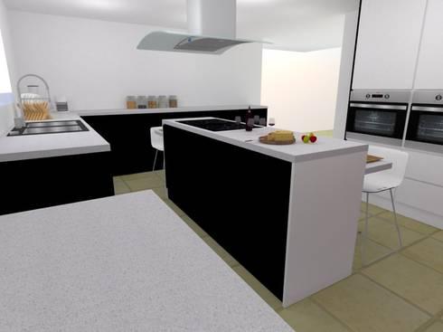 COCINA COMBINADA: Cocinas de estilo moderno por ARCE MOBILIARIO