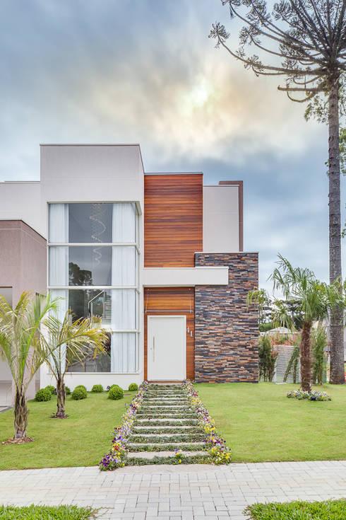 Casas de estilo  por Angelica Pecego Arquitetura