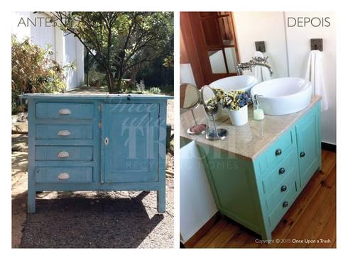 MÓVEL SÃO PEDRO * Antes e Depois: Casa de banho  por Once Upon a Trash