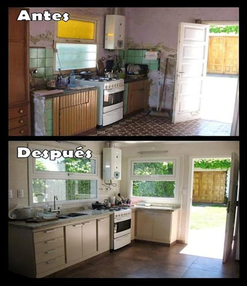 Remodelación cocina:  de estilo  por Estela Ramírez, arquitecta.