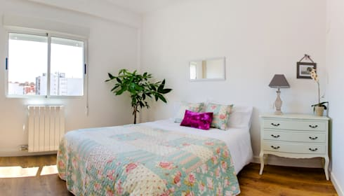 Dormitorios de estilo escandinavo por Noelia Villalba
