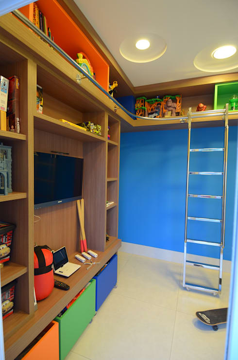 modern Nursery/kid's room by Cabral Arquitetura Ltda.