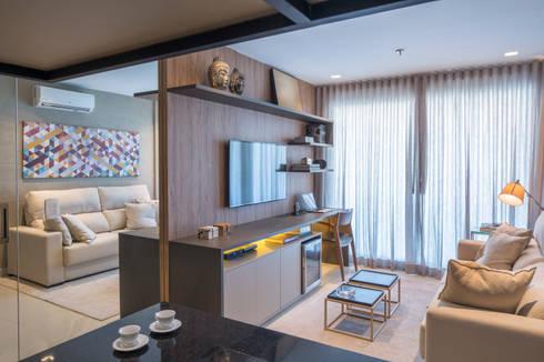 Apartamento HM: Salas de estar modernas por Carpaneda & Nasr