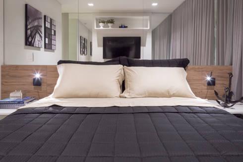 Apartamento HM: Quartos  por Carpaneda & Nasr