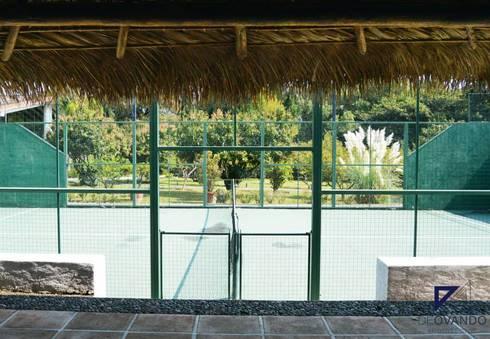 COUNTRY HOUSE IN MALINALCO MEXICO: Terrazas de estilo  por De Ovando Arquitectos