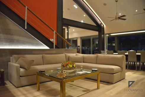 Pent House in Polanco Mexico City: Salas de estilo moderno por De Ovando Arquitectos