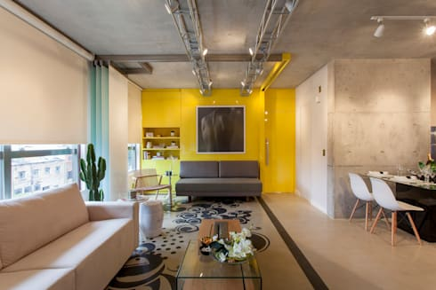 DECORADO CITRINO: Salas de estar modernas por RC ARQUITETURA