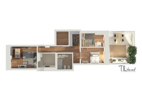 Floorplan of the apartment:   por Lagom studio