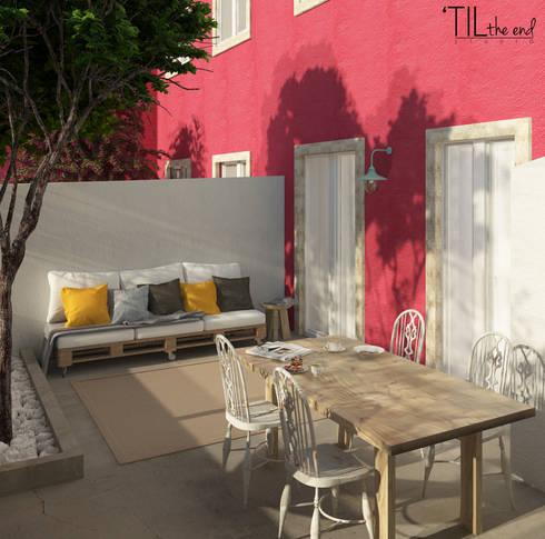 Apartment in Belém: Terraços  por Lagom studio