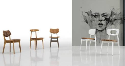 Wood meets Cork: Cozinha  por Fenabel-The heart of seating