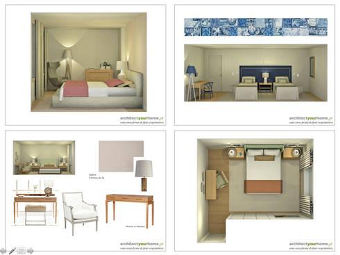 Uma casa com vista: Casa  por Architect Your Home