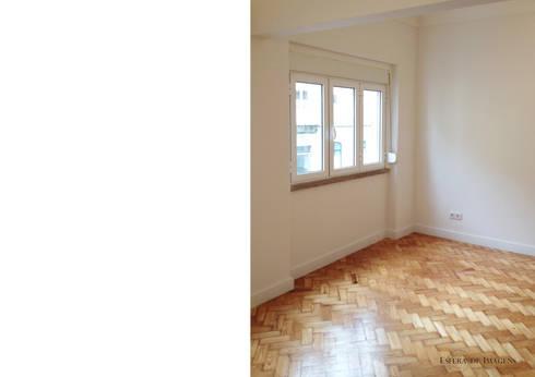 Remodelação de apartamento na Rua Sabino de Sousa:   por Esfera de Imagens Lda