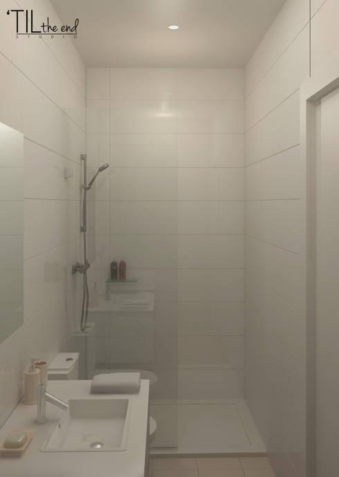 Apartment in Belém, Lisbon: Casas de banho minimalistas por Lagom studio