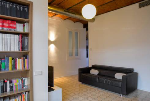Mosaico hidráulico : Salones de estilo minimalista de Torres Estudio Arquitectura Interior