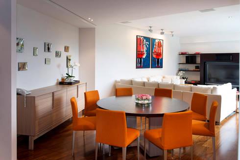 Departamento Tabachines : Comedores de estilo moderno por Hansi Arquitectura