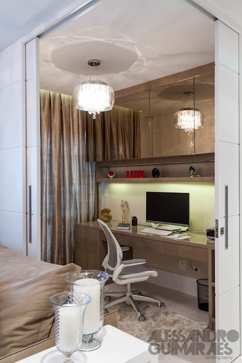 Office spaces & stores  تنفيذ Martins Valente Arquitetura e Interiores