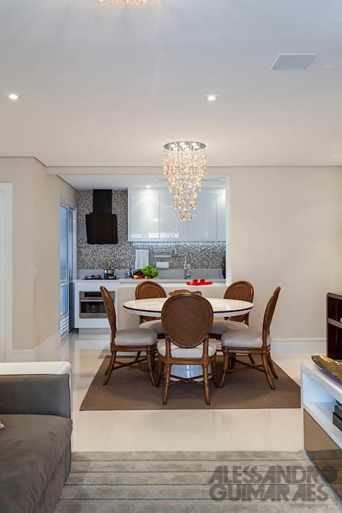 غرفة السفرة تنفيذ Martins Valente Arquitetura e Interiores