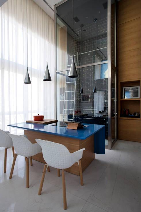 Loft Itaim: Adegas modernas por Toninho Noronha Arquitetura