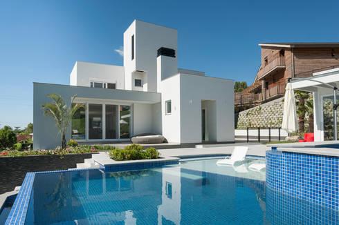 Residencial: Piscinas modernas por Pinheiro Machado Arquitetura