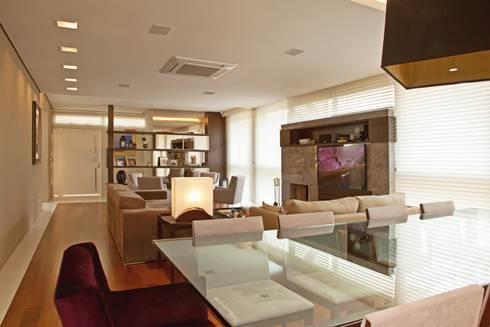 SALA DE JANTAR: Salas de jantar modernas por LUIZE ANDREAZZA BUSSI INTERIORES+ CORPORATIVO
