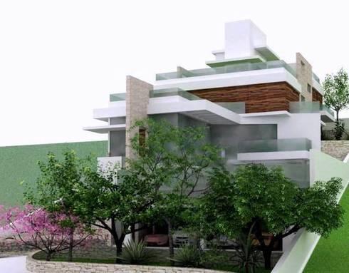 Big House : Casas modernas por Habita Arquitetura