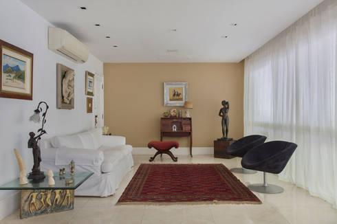 Apartamento Leblon - RJ: Salas de estar modernas por DG Arquitetura + Design