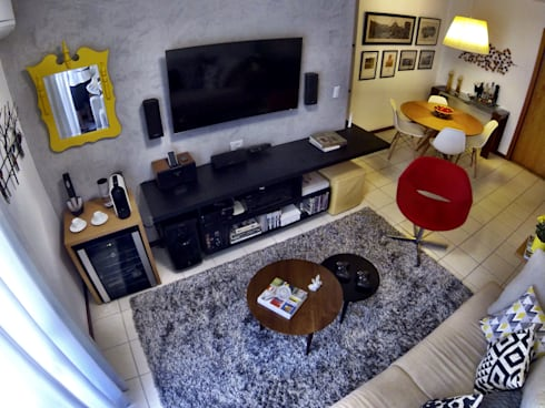 Sala de estar: Salas de estar modernas por CORES - Arquitetura e Interiores